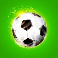 Palla da calcio fuoco vettore