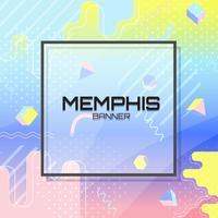Sfondo colorato di Memphis vettore