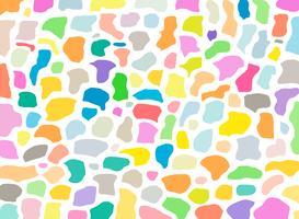 Terrazzo texture geometriche e fascio di modelli con colorfu su sfondo bianco. vettore