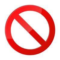 Icona del segnale di stop Notifiche che non fanno nulla. vettore