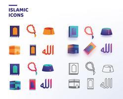Pacchetto di icone islamiche di vettore