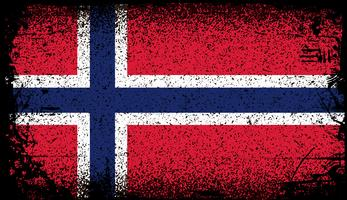 bandiera norvegese vettore