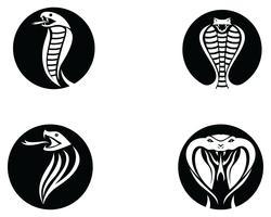 elemento di design logo vipera serpente. icona di pericolo serpente. simbolo della vipera vettore