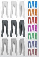 Set di pantaloni sportivi. Sfondo isolato vettore
