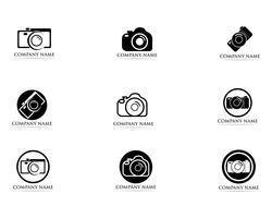 Il nero dell'illustratore di vettore di logo di fotografia