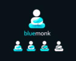 Design semplice logo Monk icona piatta