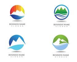 Logo e simboli della montagna vettore