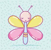 Cartone animato carino farfalla vettore