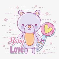 Carta di amore bambino vettore