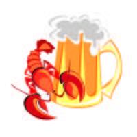 Aragosta, cancro e birra. Un boccale di birra. Design per la pubblicità di gastronomia e birra. Vettore