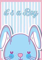 È una carta di baby shower per ragazzo vettore