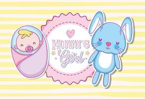 Cartone animato ragazza Mommys vettore
