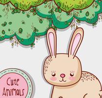Cartone animato carino coniglietto vettore