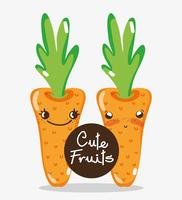 Cartoni animati carote carine vettore