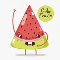 Cartoni animati di frutta carini vettore