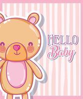 Ciao baby card vettore
