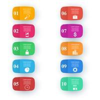 Design infografico Elenco di 10 articoli.