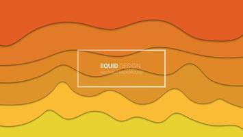 Disegno astratto multi strati 3d di liqiud. Illustrazione liquido che scorre per modello di sito Web. Papercut.