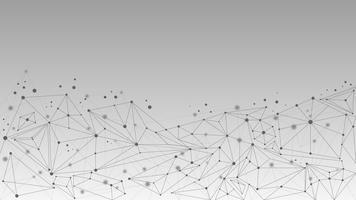 Molecola geometrica astratta e sfondo di comunicazione