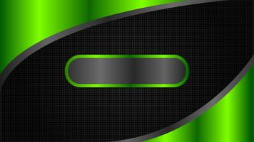 Astratto design di banner tecnologia nero e verde, stile minimal