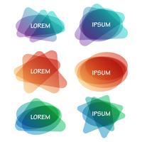 Insieme vettoriale di banner astratti colorati forme diverse
