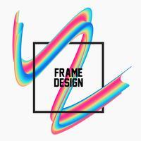 Telaio geometrico fluido alla moda 3d vettore