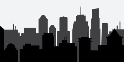 Silhouette della città vettore