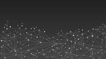 Priorità bassa geometrica astratta della molecola, in bianco e nero