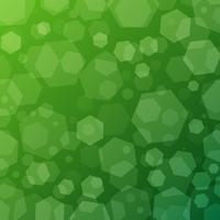 Fondo techno astratto geometrico verde con esagoni vettore