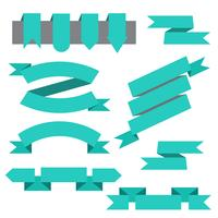 Vector set di nastri, segnalibri in stile piatto
