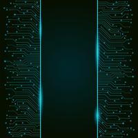 Circuito stampato, banner tecnologia high-tech verticale, trama di sfondo