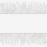 Circuito stampato, banner tecnologia high-tech, trama di sfondo
