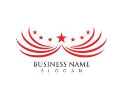 Logo Falcon ala uccello rosso