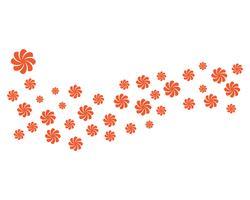 Illustrazione di progettazione dei fiori dell'icona di plumeria di bellezza