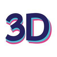 Segno di simbolo dell'icona 3d