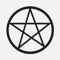 Segno simbolo icona Pentagramma vettore