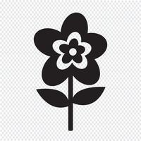Segno di simbolo dell'icona del fiore vettore