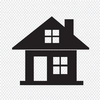segno di simbolo dell'icona di casa