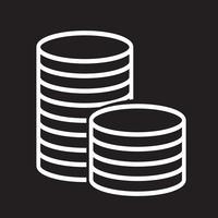 segno di simbolo dell'icona dei soldi