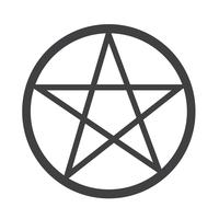 Segno simbolo icona Pentagramma