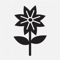 Segno di simbolo dell'icona del fiore