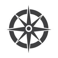 Bussola icona simbolo segno vettore