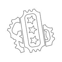 segno di simbolo dell'icona del biglietto