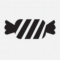 segno di simbolo dell'icona della caramella vettore