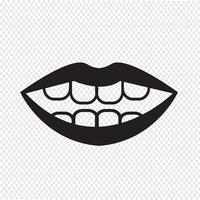 segno di simbolo dell'icona della bocca