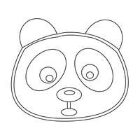segno simbolo icona panda