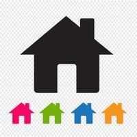 segno di simbolo di icona casa vettore