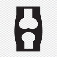 segno di simbolo dell'icona dell'osso