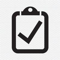 segno di icona simbolo lista di controllo