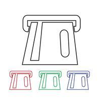 Segno simbolo icona Atm vettore